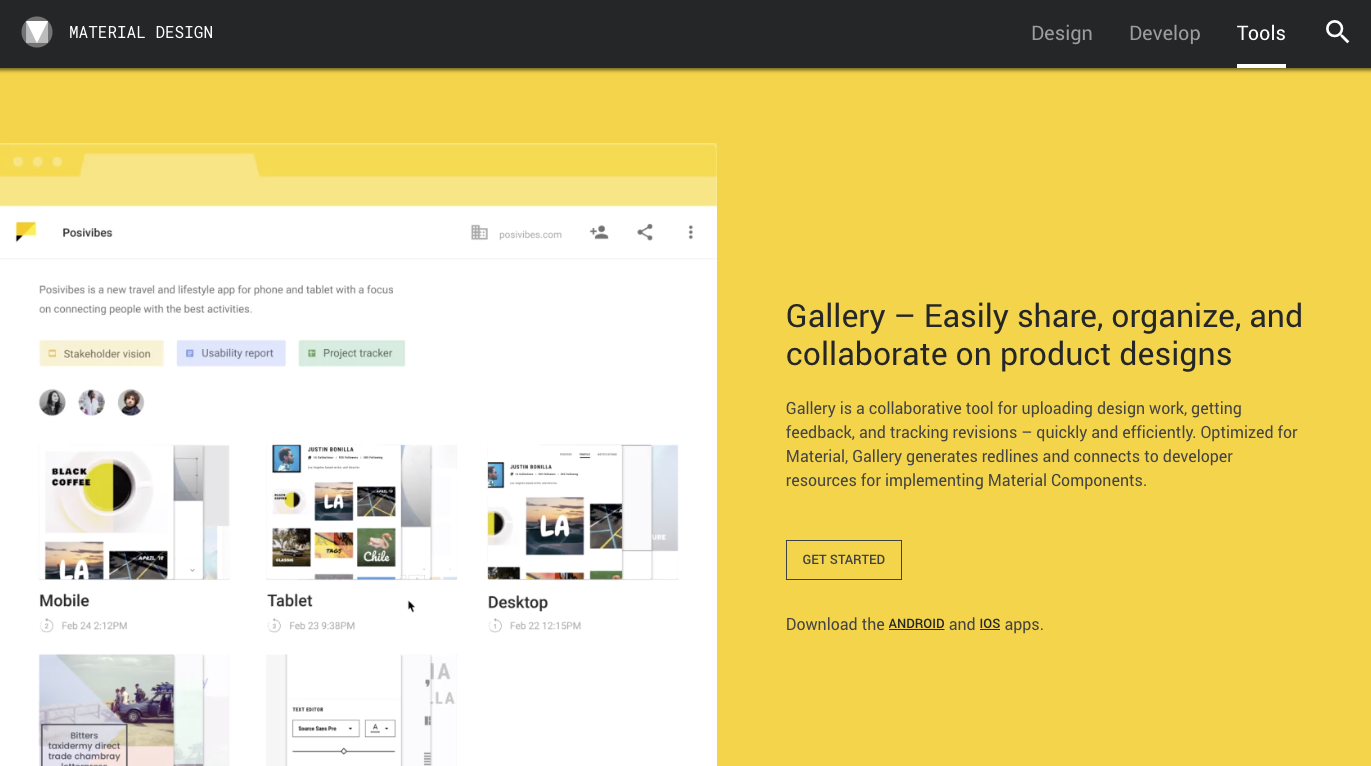 Google's Material Gallery - Design Systems